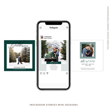 Instagram Posts Mini Sessions Christmas | Winter Minis