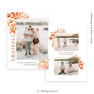 Thanksgiving Photocard Template | Pumpkin Vibes
