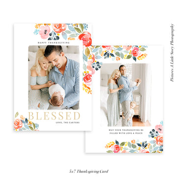 Thanksgiving Photocard Template | Blessed times
