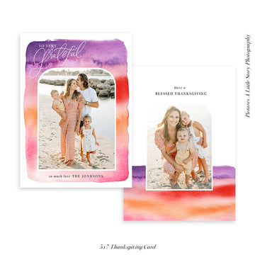Thanksgiving Photocard Template | Shades of love