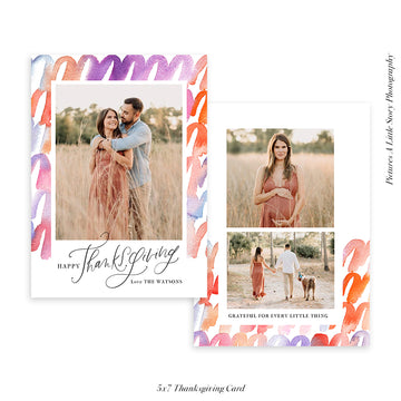 Thanksgiving Photocard Template | Pink Rain