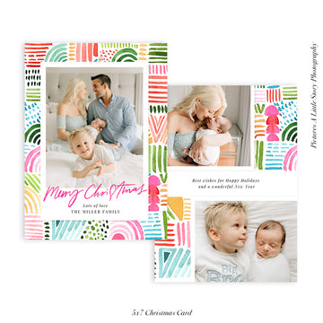 Christmas Photocard Template | All is Bright