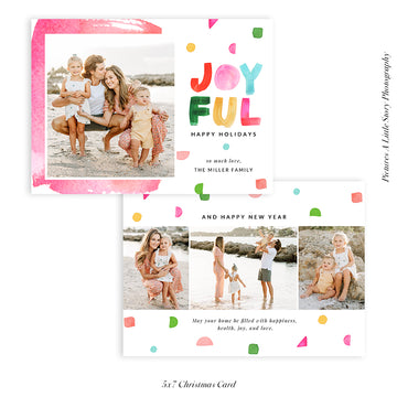 Christmas Photocard Template | Joyful Shapes