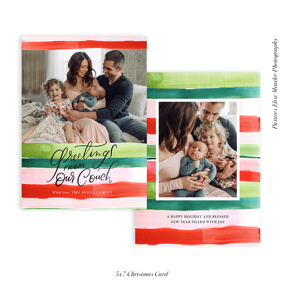 Christmas Photocard Template | Stay Home