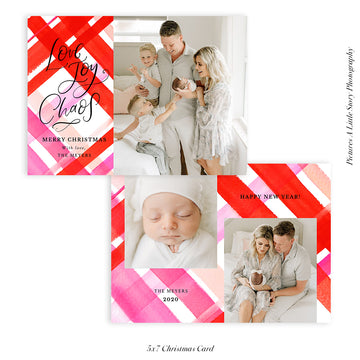 Christmas Photocard Template | Joy and Chaos