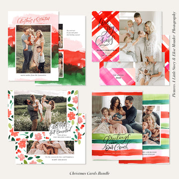 Christmas Photocard Templates Bundle | Playful Holidays