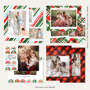 Christmas Photocard Templates Bundles | Classic Memories