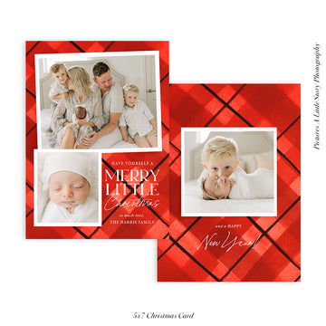 Christmas Photocard Template | Merry Little