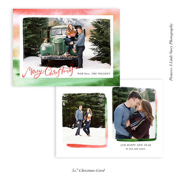 Christmas Photocard Template | Festive Colors