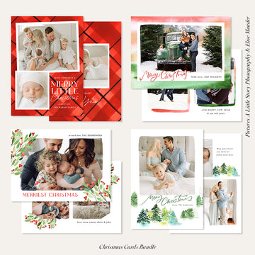 Christmas Photocard Templates Bundles | So Merry