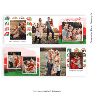 Christmas accordion card 5x5 (Trifolded) | Our Memories