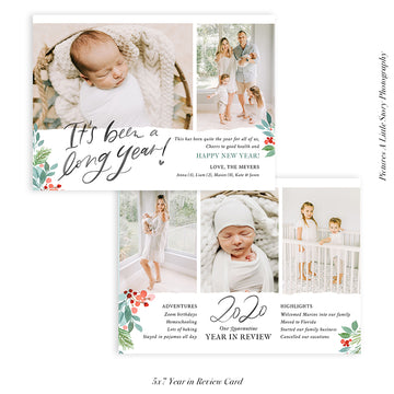 Year in Review Photocard Template | Long Year