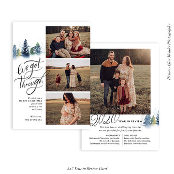 Year in Review Photocard Template | We got through