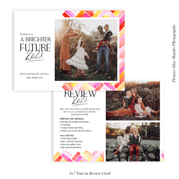 Year in Review Photocard Template | Bright Future