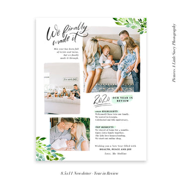 Year in Review Family Newsletter Template | We finally made it