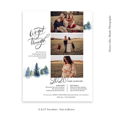 Year in Review Family Newsletter Template | We got through 2020
