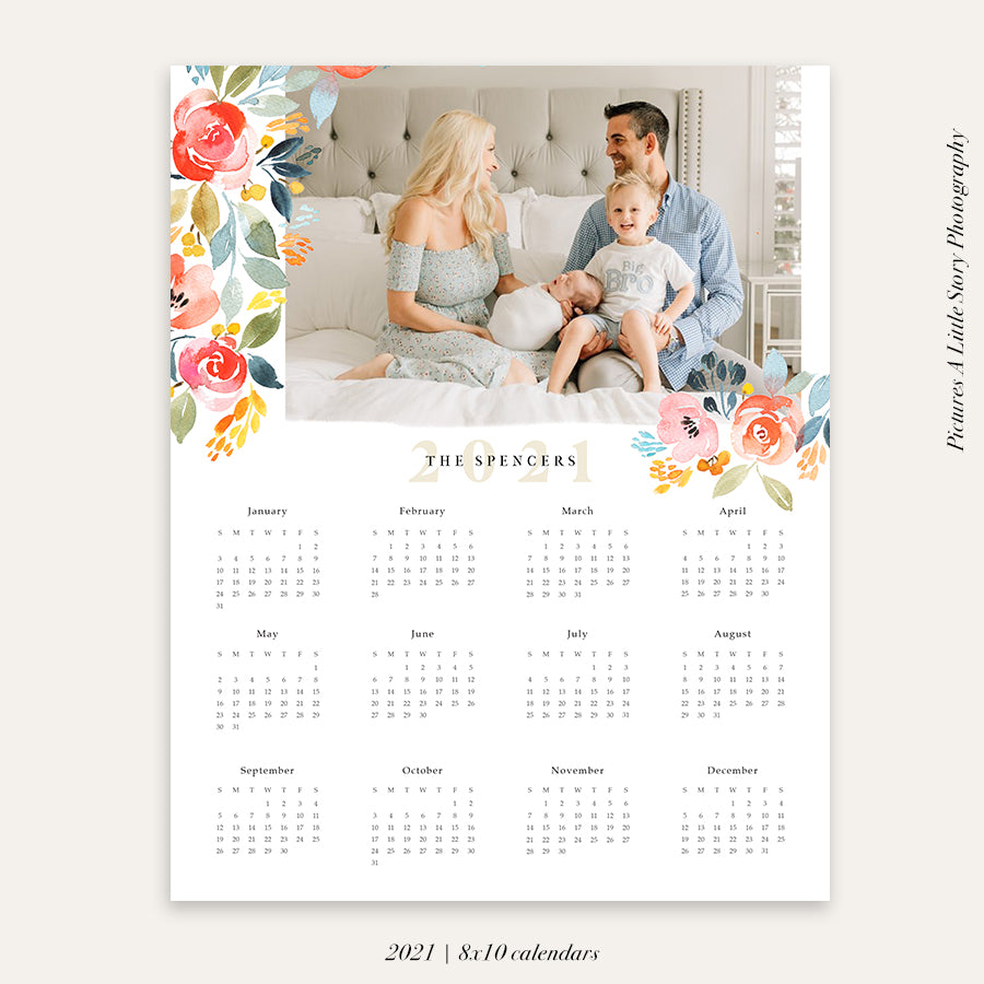 2021 Photo Calendar 8x10 | Blue Shades