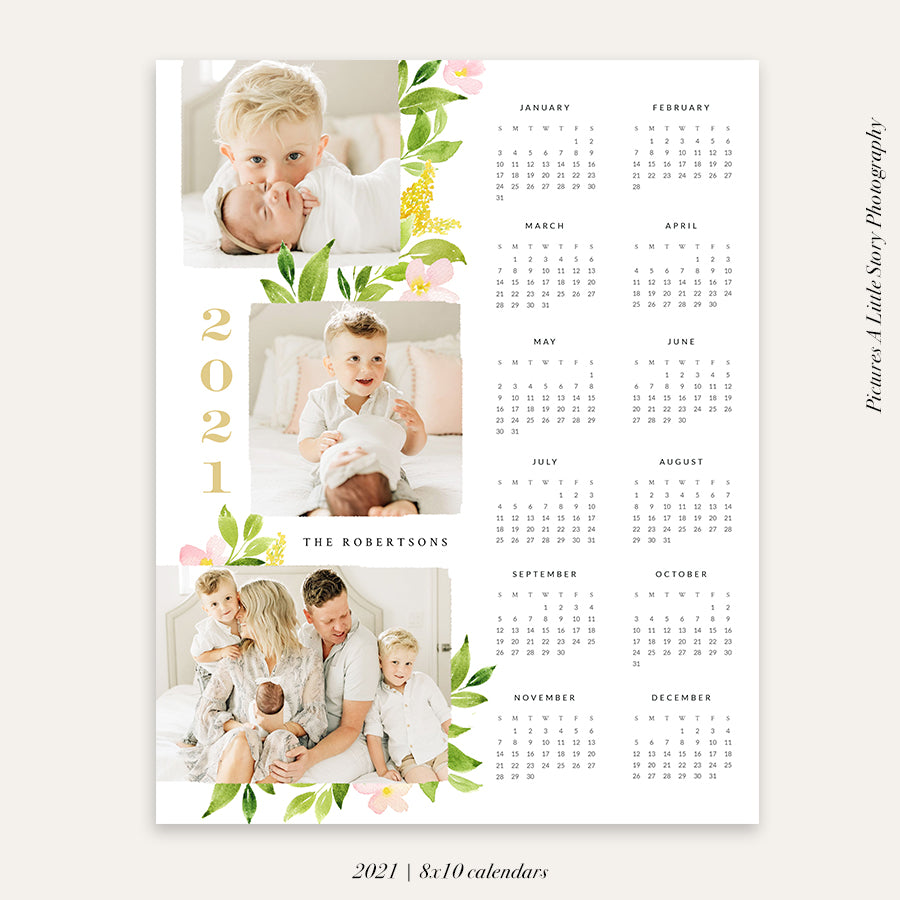 2021 Photo Calendar 8x10 | Sweet Year
