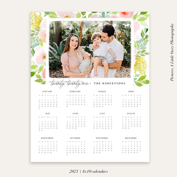 2021 Photo Calendar 8x10 | Delicate florals