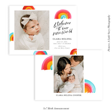 Quarantine Birth Announcement Photocard | New World