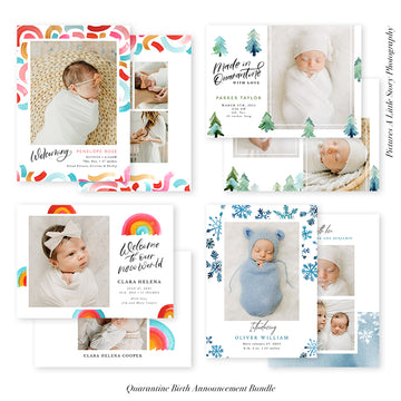 Birth Announcement Photocard Bundle | Quarantine Baby