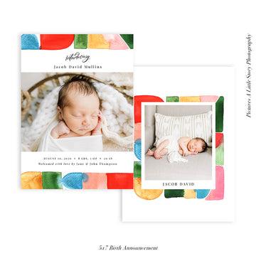 Birth Announcement Photocard | Bright Welcoming