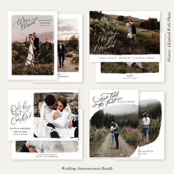 Wedding Announcement Photocard Bundle | True Love