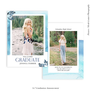 Graduation Senior Announcement | Flourish Graduate