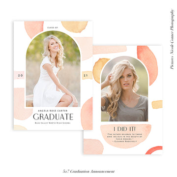 Graduation Senior Announcement | I did it