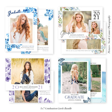 Graduation Senior Announcement Bundle | Blue Shades Graduation