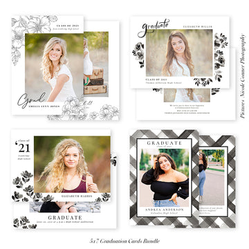 Graduation Senior Announcement Bundle | Classy Celebration Grad