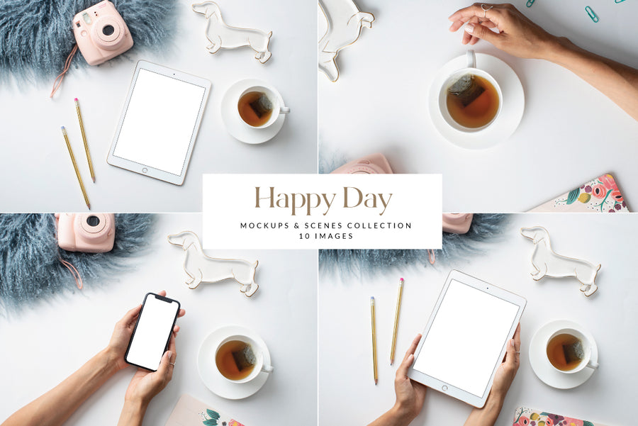 Happy Day Mockups Collection | 10 Stock Images
