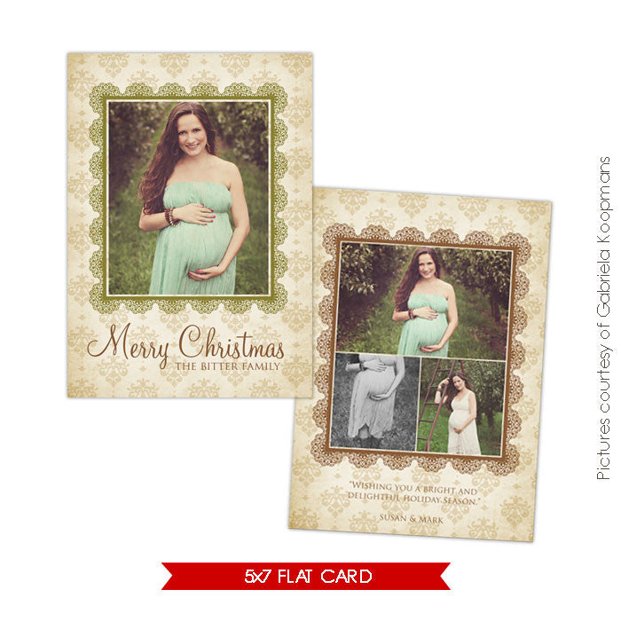Holiday Photocard Template | Honey Christmas
