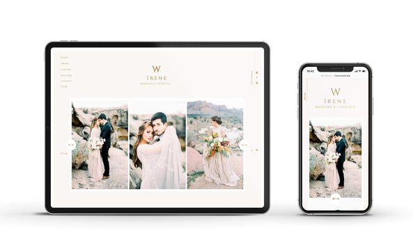 Irene - Customizable Showit Website template