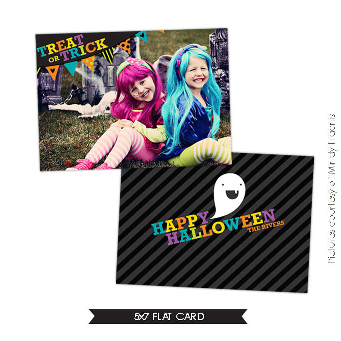 Halloween Photocard Template | Laughs & Ghosts
