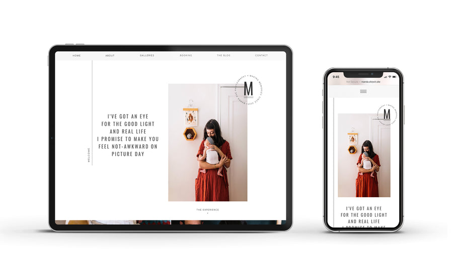 Showit Website template - Manda