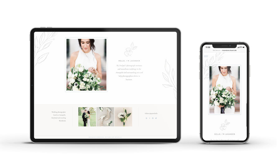 Showit Website template - Moonstone