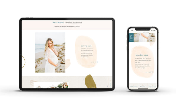 Nara - Customizable Showit Website template