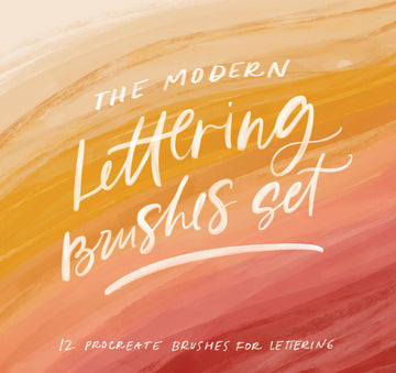 The Modern Lettering Brush Set - For Ipad Pro Lettering