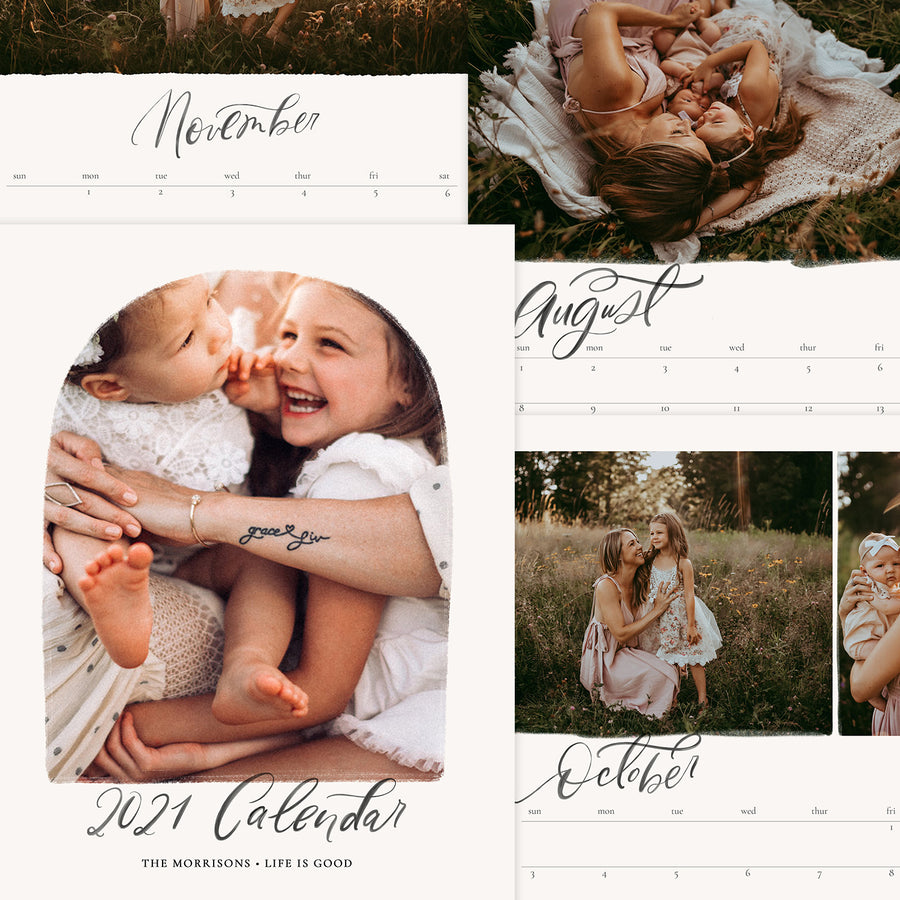 2021 Wall Photo Calendar 11x14 and 8.5x11 | Boho