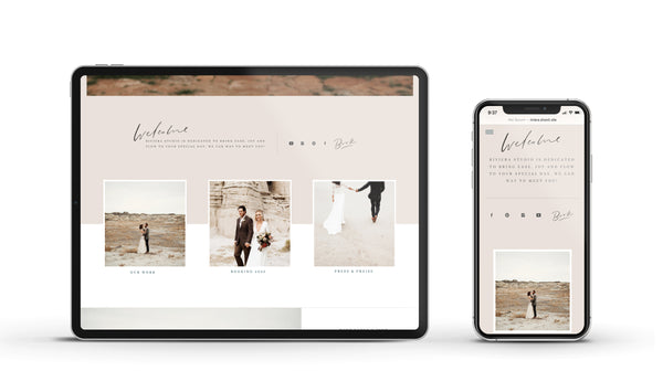 Riviera - Customizable Showit Website template