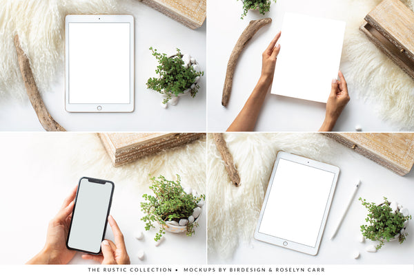 The Rustic Mockups Collection | 15 Stock Images