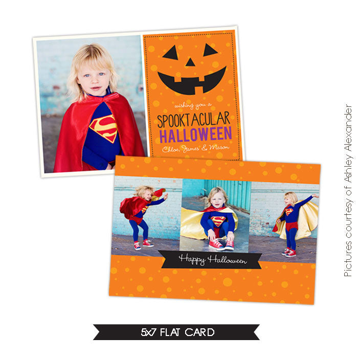 Halloween Photocard Template | Spooktacular