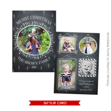 Holiday Photocard Template | Starry Night