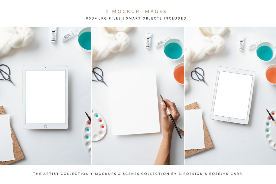 The Artist Mockups Collection | 5 Stock Images