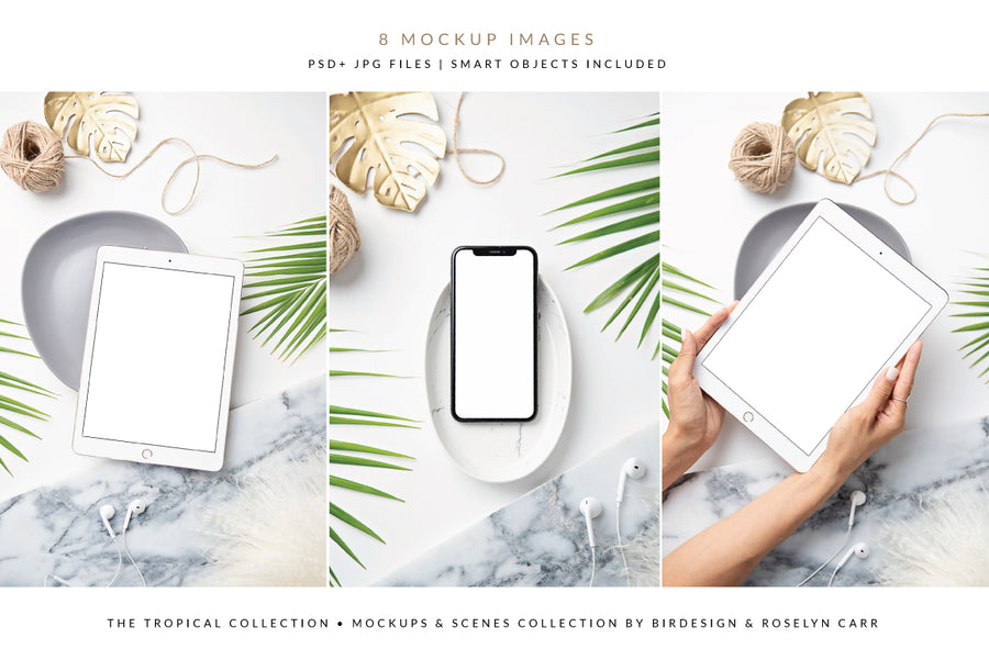 The Tropical Ipad & Iphone Mockups Collection | 8 Stock Images