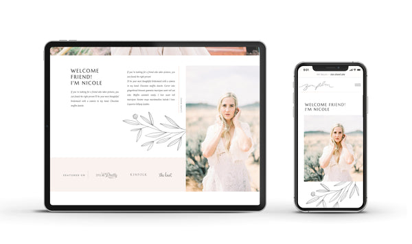 Zion Stories - Customizable Showit Website template