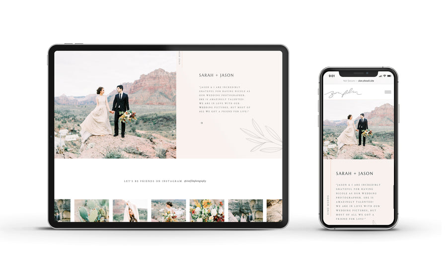 Showit Website template - Zion