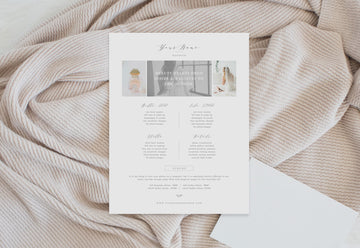 Photographer Pricing Sheet Template - Wedding Inspired