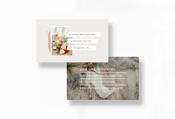 Boho Style Wedding Photographer Business Card - Marfa